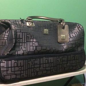 Diane Von Furstenberg DVF 2 tier wheel travel bag
